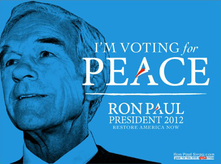 voting for peace Ron Paul
